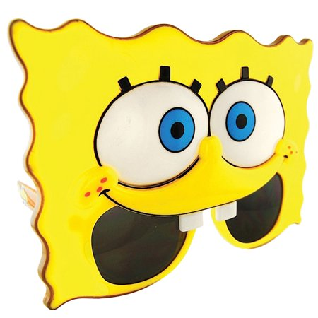 Morris Costumes Sunstache Spongebob Plastic Character Glasses One Size, Style SG1982](Halloween 1982)