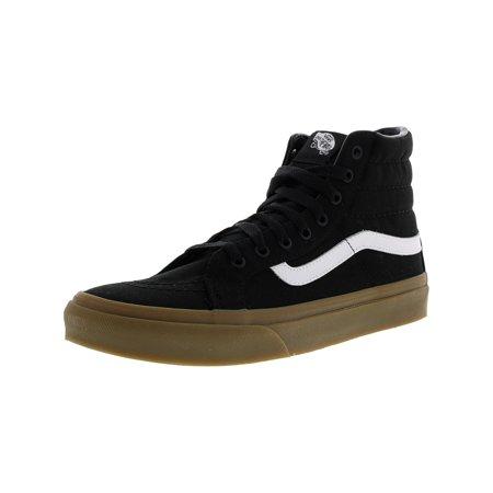 c8dde16d7cd Vans - Vans Sk8-Hi Slim Light Gum Black High-Top Canvas Skateboarding Shoe  - 10M   8.5M - Walmart.com