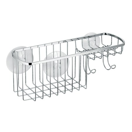 InterDesign Suction Bathroom Shower Caddy Combo Organizer Basket for ...