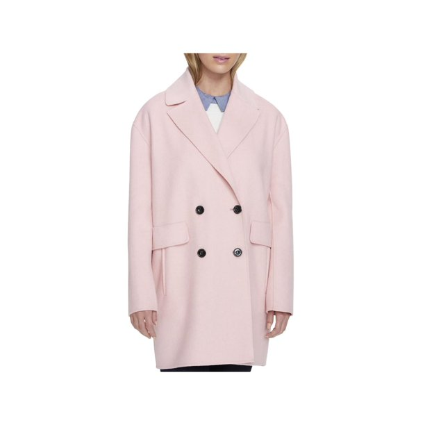 Tommy Hilfiger Womens Pink Peacoat Coat, Tommy Hilfiger Peacoat Women S