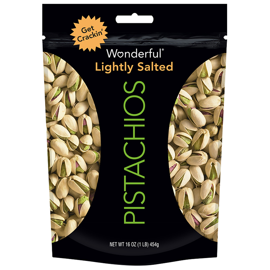 Wonderful Pistachios, Roasted & Lightly Salted, 16 Oz