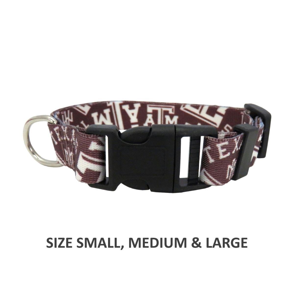 Texas A&M Aggies Pet Nylon Collar - Small