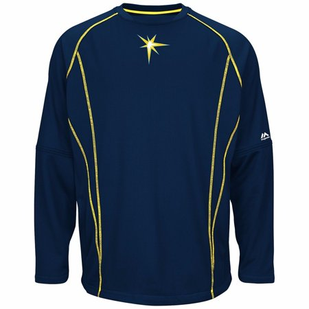 Tampabay Rays (Tampa Bay Rays MLB Majestic Men's Navy Blue Authentic On-Field Practice Pullover)