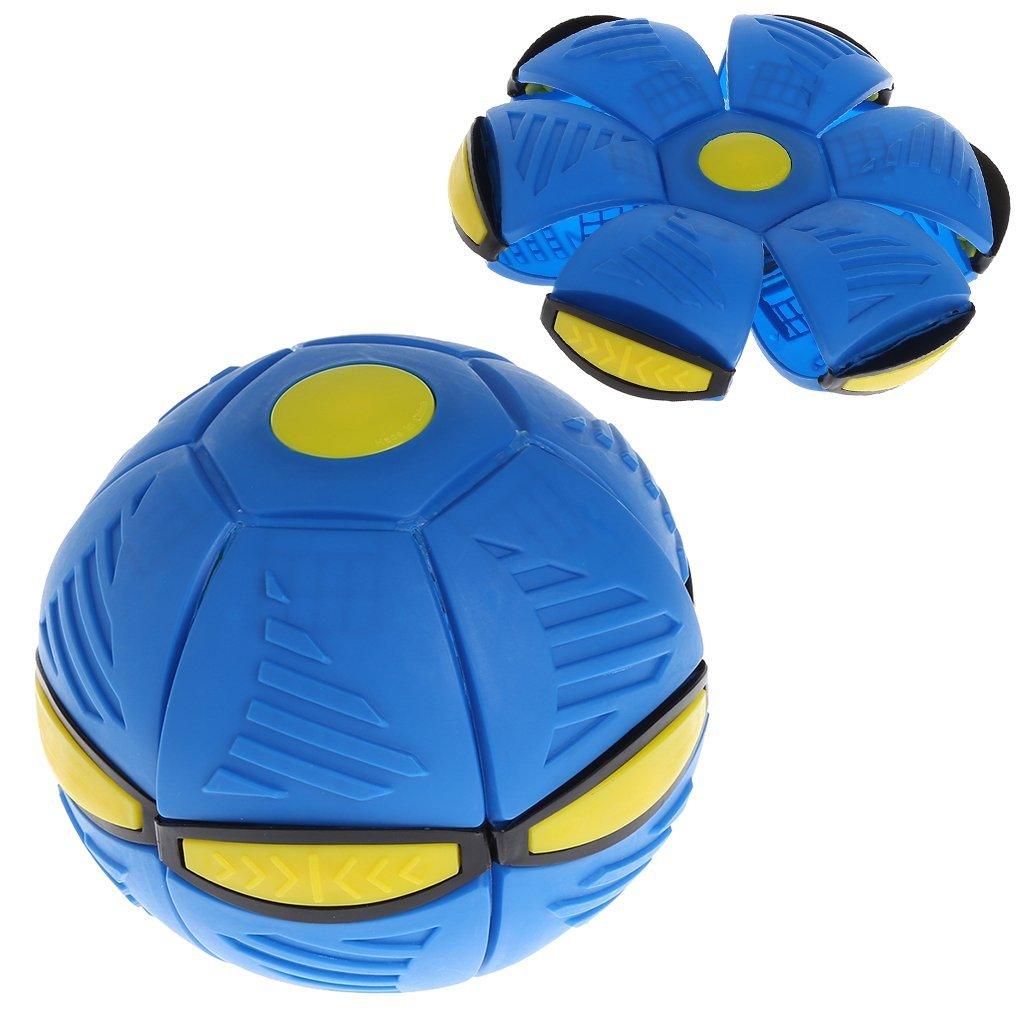 HOWADE Popular New UFO Deformation Ball Soccer Magic Flying Football Flat Throw Ball Toy... by