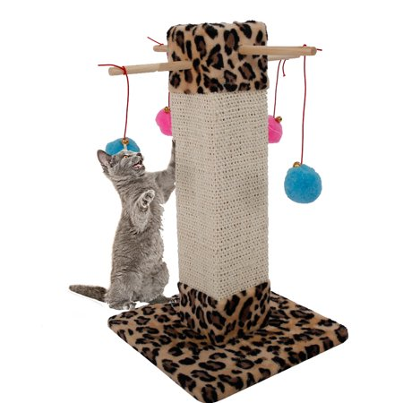 "Zimtown 20"" Cat Tree Tower Condo Furniture Pet Kitty Play House Cat Scratching Post with Hanging Ball Toy"