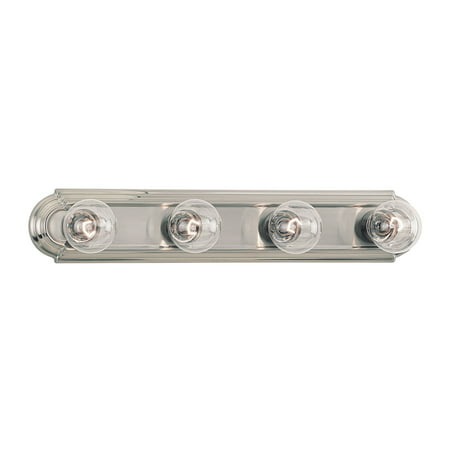 Sea Gull Lighting 4701 De-Lovely 4 Light ADA Bathroom Vanity Strip