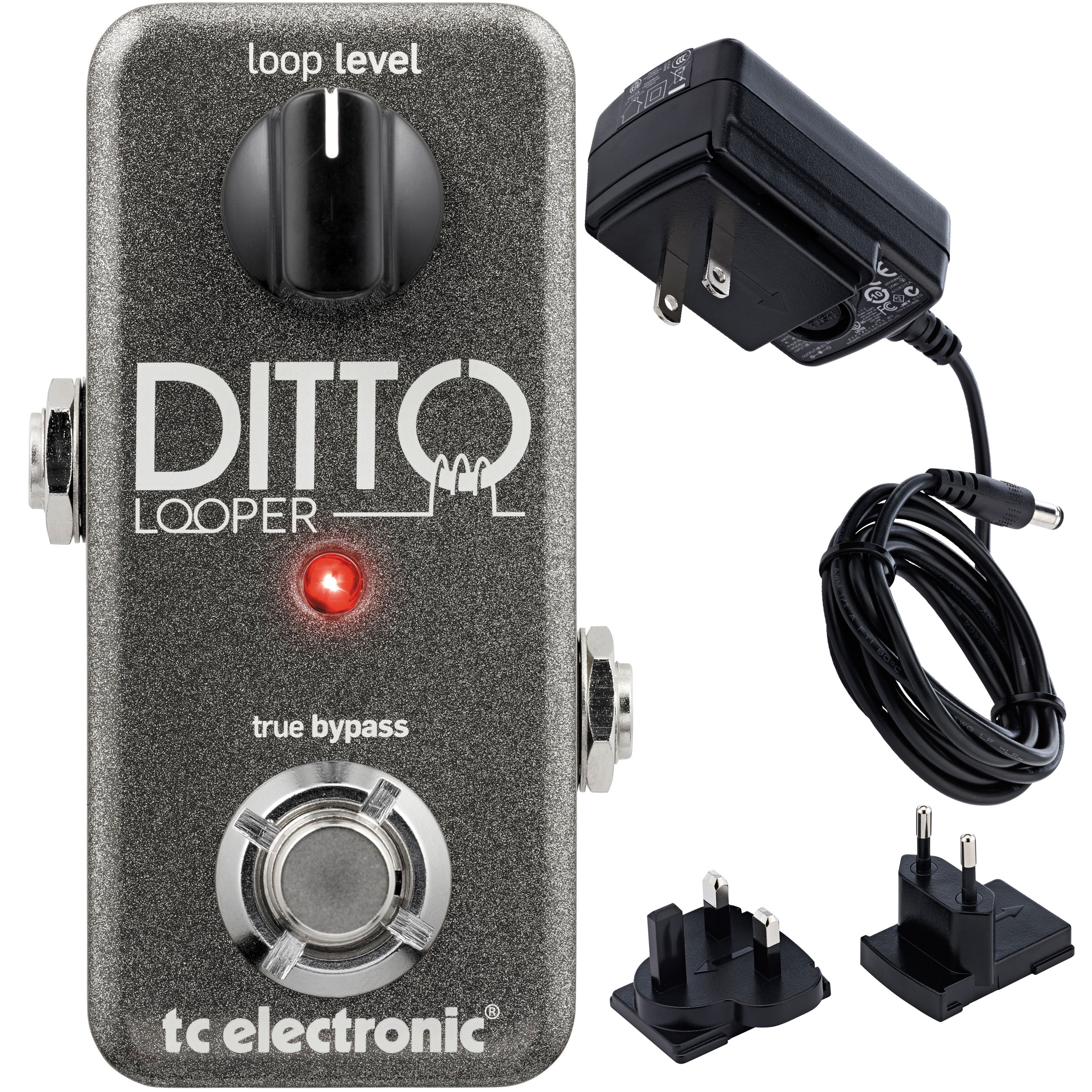 TC Electronics Ditto Looper Effects Pedal w  Bonus Power Supply by TC Electronic