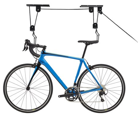 Zeny Bicycle Lift Bike Lane Storage Lift Bike Hoist Hanger Pulley Rack Max 45LB Capacity Heavy Duty Ceiling Ceiling Bike Rack