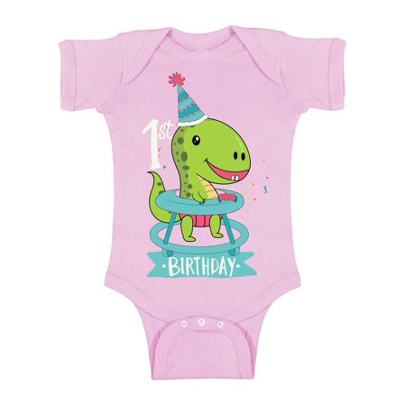Awkward Styles Dinosaur Birthday Short Sleeve Bodysuit For Baby Gifts First Party Outfit 1st One