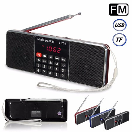 LCD Display Mini Portable Wireless Stereo Super Brass Dual Speaker Radio Music MP3 Player Power Bank USB Disk Micro S D/TF Mini Speaker FM Radio AUX Clock Function