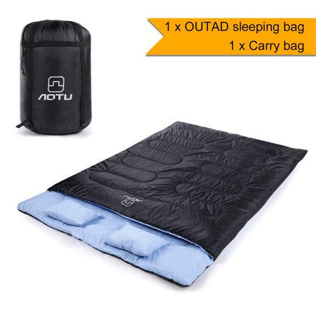 New Outad Double Sleeping Bag With 2 Pillows Length 86 6 Width 59 8