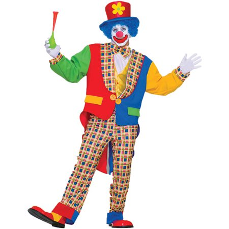 Clown on the Town Adult Halloween Costume - One Size