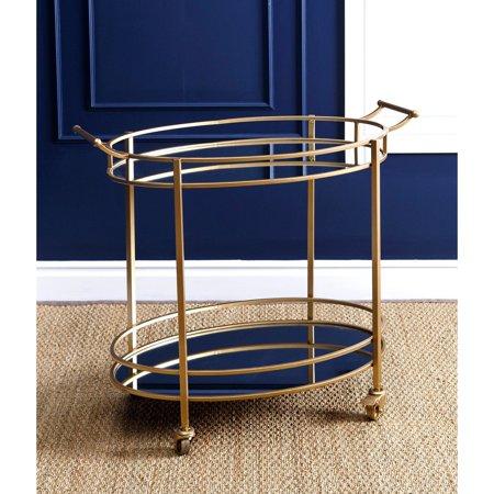 Abbyson Prantley Oval Round Bar Cart