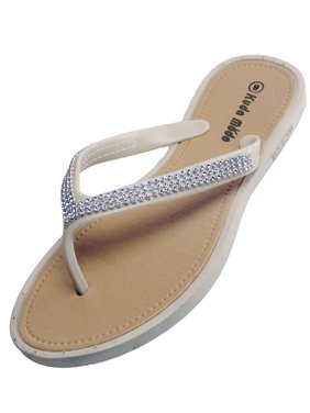 af77a91543628 Product Image Women s Summer Bling Shinning Rhinestone Studded Strap Casual Thong  Flat Flip Flops Sandals Slipper