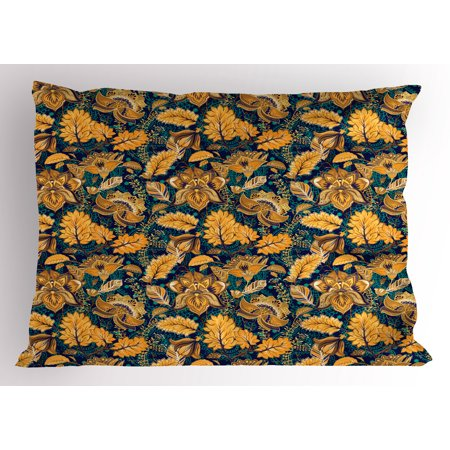 Asian Pillow Sham Medieval Oriental Flower Motifs Exotic Fantasy Garden Theme Eastern Ethnic Pattern, Decorative Standard Size Printed Pillowcase, 26 X 20 Inches, Multicolor, by Ambesonne](Medieval Themes)