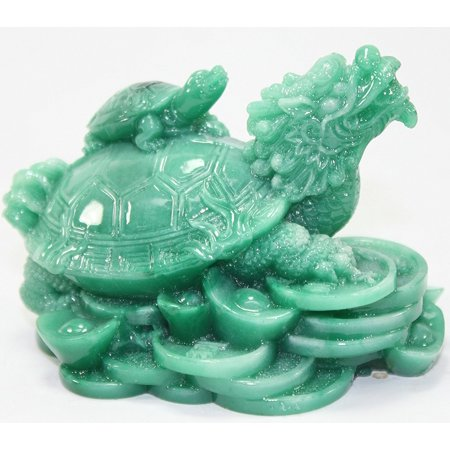 Feng Shui Green Dragon Turtle Wealth Protection Statue Figurine Housewarming Congratulatory Paperweights Gift Home Decor US Seller (Green Dragon.., By We pay your sales tax