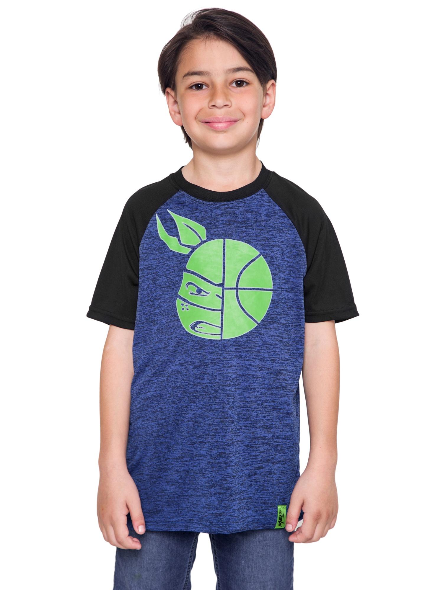 Youth Boys Teenage Mutant Ninja Turtles T-Shirt - Rash Guard Quick-Dry