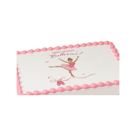 Birthday ballerina_Hispanic Edible Extra Large 8 x 10 Cake Decoration Topper Image](Ballerina Cake)