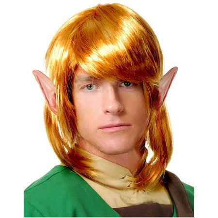 Legend Of Zelda Link Wig (Elf Warrior Legend of Zelda Link World of Nintendo Costume Wig)
