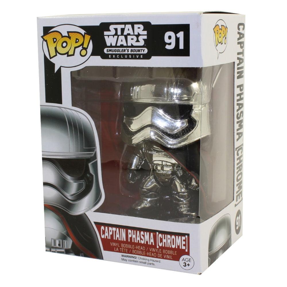Funko POP! Star Wars Smuggler's Bounty Vinyl Bobble-Head - CAPTAIN PHASMA (Chrome) *Exclusive*