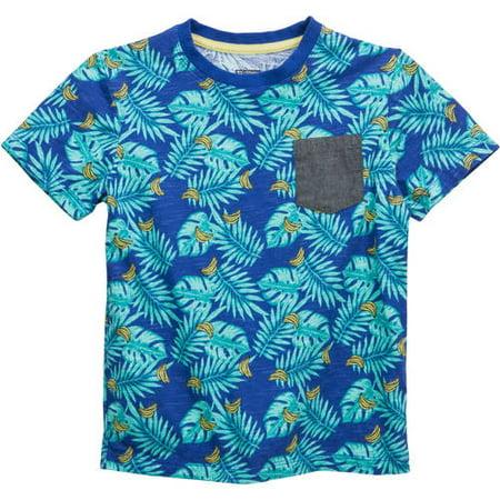 No Retreat Fashion Pocket Short Sleeve Graphic Tees (Little Boys & Big Boys)