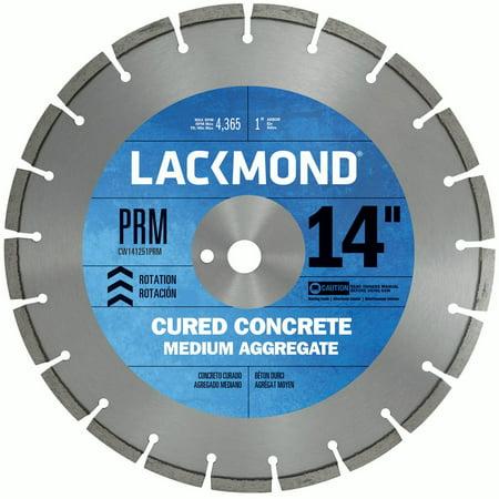 14' Premium Concrete - Lackmond Premium CW20 Series Wet Cut Diamond Blade for Cured Concrete, 14-Inch by .125 by 1-Inch