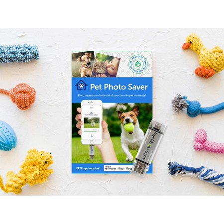 Pet Photo Saver – The First Ever Digital Pet Photo/Video Finder Backup Stick for iPhone/MAC/Android – Saves Thousands of Images with Built-in Pet Recognition (Best Iphone Finder App)