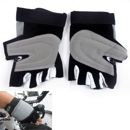 Finger Assault Gloves - 1 Cycling Gloves Padded Half Finger Cycle MTB Bike Sports Closure Strap Size S-M