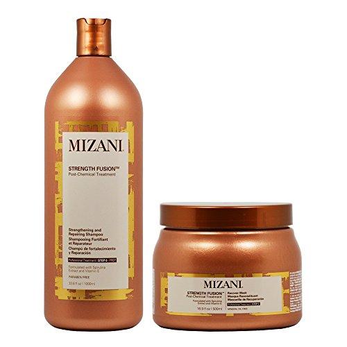 "Mizani Strength Fusion Post-Chemical Treatment Strengthening and Repairing Shampoo 33.8oz + Recover Mask 16.9oz ""Set"""