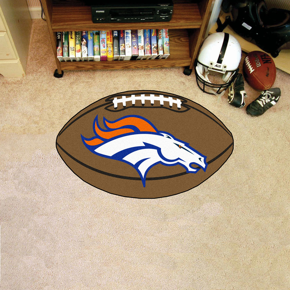 FANMATS NFL Denver Broncos Football Mat