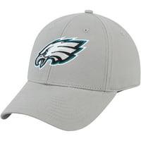 Men's Gray Philadelphia Eagles Basic Adjustable Hat - OSFA