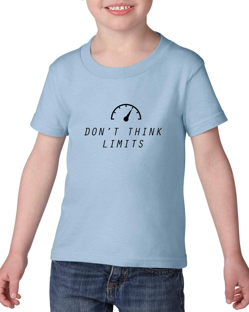 Artix Don`t Think Limits Gift for Birthday Matching Couples Christmas Party Heavy Cotton Toddler Kids T-Shirt Tee Clothing