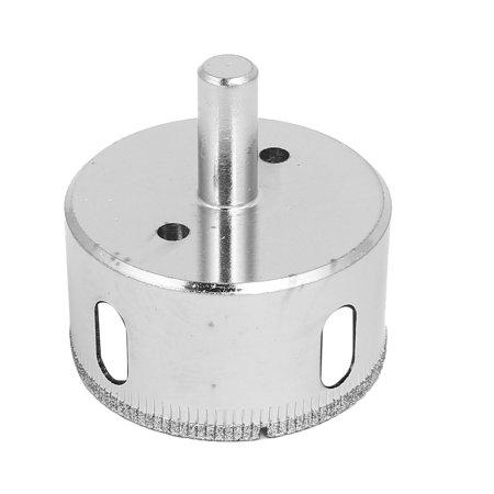 55mm diamètre coupe ronde en verre revêtement diamant Queue Scie trépan Ton Argent - image 2 de 3