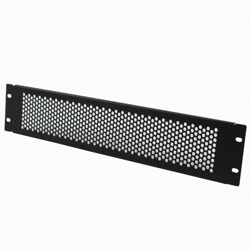 Navepoint 2U Blank Rack Mount Panel Spacer With Venting For 19-Inch Server Network Rack Enclosure Or Cabinet Black