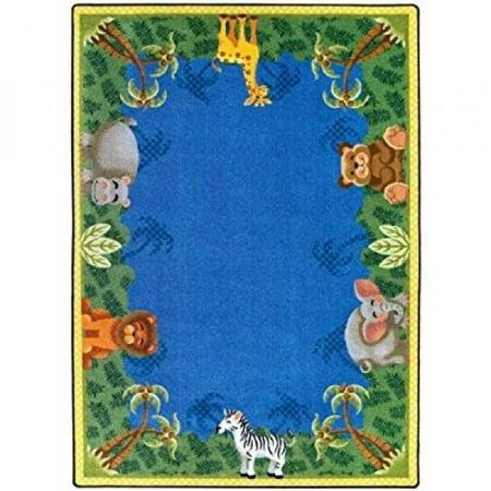 Joy Carpets Just for Kids Jungle Friends Area Rug