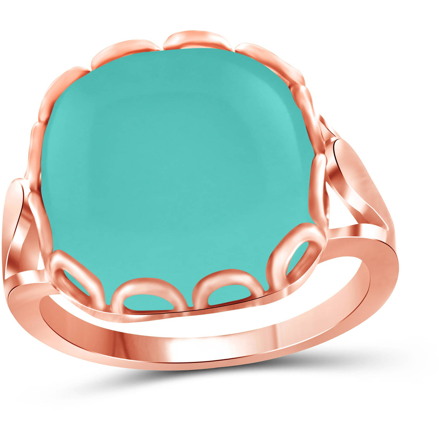 JewelersClub 10-3 4 Carat T.G.W. Chalcedony Rose Gold over Silver Fashion Ring by JewelersClub