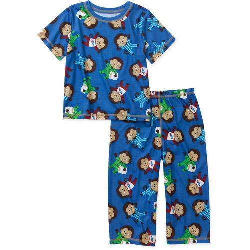 Child of Mine by Carters Baby Boys' 2 Piece Monkey Short Sleeve Pajama Set