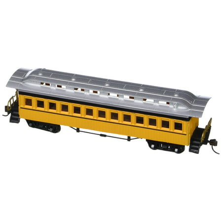 Bachmann Industries 1860 - 1880 Passenger Cars - Coach - Painted, Unlettered Yellow (HO Scale), Blackened metal wheels By Bachmann Trains