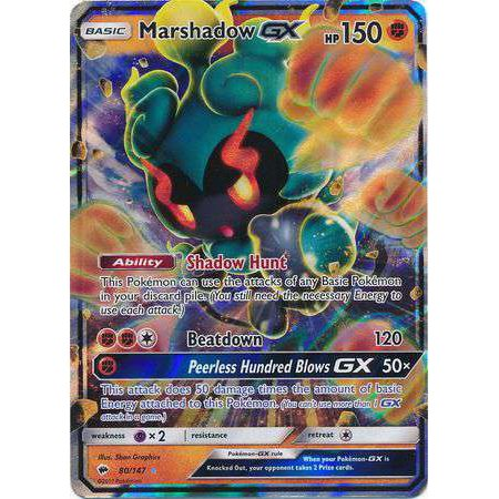 Pokemon Burning Shadows Marshadow-GX #80