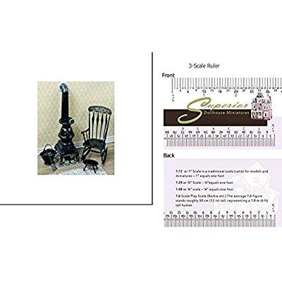 dollhouse pot belly stove kit, black