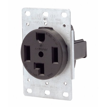 Flush Mount Dryer (071-00278-000 4 Wire 30 Amp 250 Volt Flush Mount Dryer Receptacle, Equipped with heavy-gauge, double-wire copper alloy contacts By Leviton )