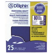 BLUE DOLPHIN™ ANTI-CLOGGING/NO LOAD SERIES SANDPAPER, 9 IN. X 11 IN., 80 GRIT, 25 PACK