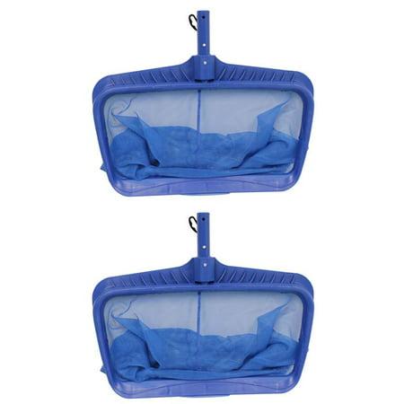 2) Swimline Hydro Tools 8040 Professional Heavy Duty Deep Bag Leaf Rake Pool Net