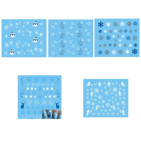 Christmas Snowflake 3D Nail Art Stickers Snowman Glove Nail Decal Tips Reindeer Manicure Sticker