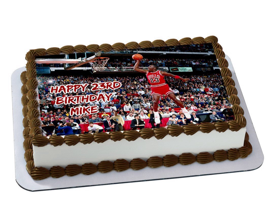 Michael Jordan Chicago Bulls Quarter Sheet Edible Photo Birthday