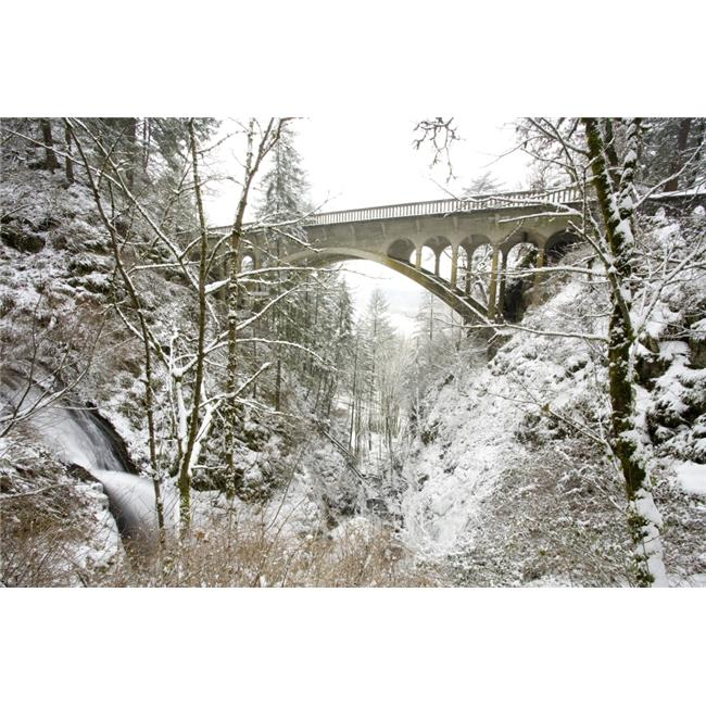 Winter Shepperds Dell Columbia River Gorge Oregon USA Poster Print by Craig Tuttle, 19 x 12 - image 1 de 1
