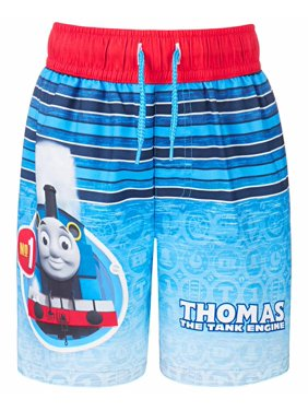 Dreamwave Toddler Boy Licensed Character Swim Trunk UPF 50 (Thomas, 2T)