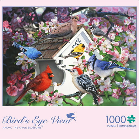 Buffalo Games - Birds Eye View Collection - Among The Apple Blossoms - 1000 Piece Jigsaw Puzzle ()