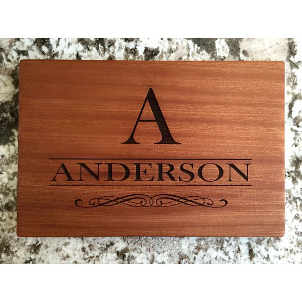 Personalized Large Mahogany Cutting Boards Anderson