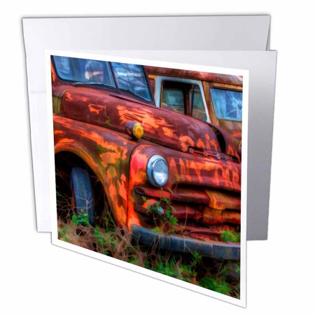 3dRose USA, Georgia, Rusty trucks, Classics, Old Car City - US11 JWL0585 - Joanne Wells, Greeting Cards, 6 x 6 inches, set of 6